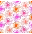 Pattern with small furry flowers or pompoms vector image vector image