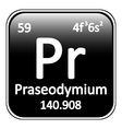 Periodic table element praseodymium icon vector image vector image