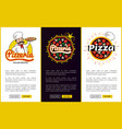 pizzeria with italian recipes promo banners set vector image vector image