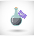 Poison bottle flat ico vector image