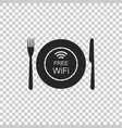 restaurant free wi-fi zone icon isolated vector image vector image
