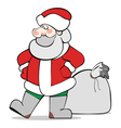 SantaClaus isolated vector image