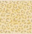 seamless leopard pattern design animal print vector image vector image