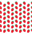 seamless strawberry pattern on white background vector image vector image