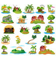 set different islands vector image vector image