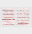 sketch underline red scribble stroke borders and vector image vector image