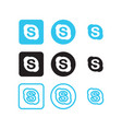 skype social media icons vector image vector image