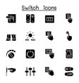 switch icon set graphic design vector image