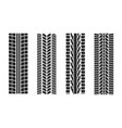 textures tire tracks set vector image