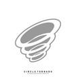 tornado logo design concept template hurricane vector image vector image