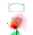 tulip flower on watercolor background vector image vector image