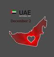 uae national day art banner background poster vector image