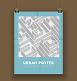 Urban poster vector image vector image