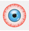 vessel of eye icon realistic style vector image