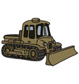 Vintage military tracked vehicle vector image vector image
