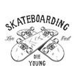 vintage monochrome skateboarding activity logotype vector image vector image