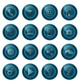 web buttons isolated on white background web vector image vector image