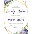wedding floral invitation save the date card vector image vector image