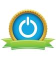 Gold power logo vector image