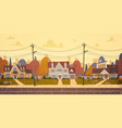 houses suburb of big city in autumn cottage real vector image