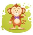 Cute cartoon monkey toy card vector image