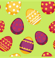 seamless pattern with decorated eggs isolated vector image
