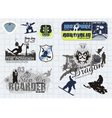 all winter sports vector image