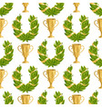trophy champion cup seamless pattern vector image
