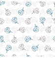 abstract flower pick graphic seamless pattern