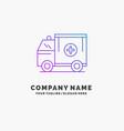 ambulance truck medical help van purple business vector image vector image