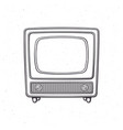 analogue retro tv with wooden body vector image vector image