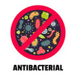 antibacterial sign flat style vector image