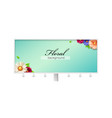 billboard with banner decorated blossom flowers vector image vector image