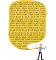 blah blah Talk vector image vector image