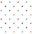 Bugs colorful on white seamless pattern texture vector image vector image