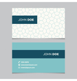 business card pattern blue 05 vector image vector image