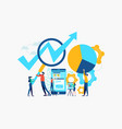 business teamwork concept for mobile app success vector image vector image
