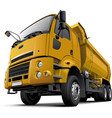 cab-over dump truck vector image vector image