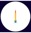 candle computer symbol vector image vector image