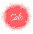Christmas sale applique banner vector image