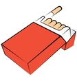 Cigarettes package vector image