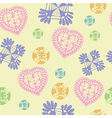 Colorful Hearts Symbol And Icon For Valentine Day vector image