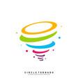 colorful tornado logo design concept template vector image