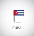 cuba flag pin vector image