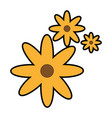 cute flower isolated icon vector image vector image
