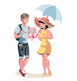 dating of loving beautiful couple vector image vector image