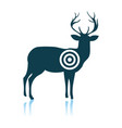 deer silhouette with target vector image vector image