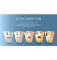 dental caries stage poster banner template vector image