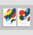 design brochure layout vector image