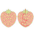 easy strawberry maze vector image vector image